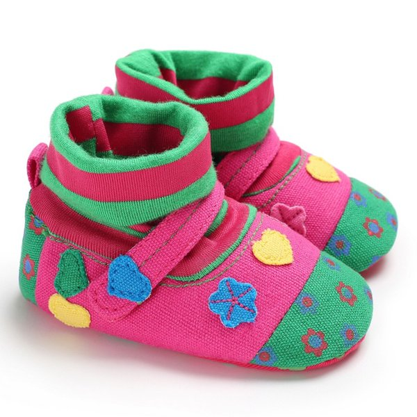 Autumn Winter Baby Boots Cotton Cute Baby Casual Soft Bottom Toddler Boots Cartoon Print Pattern