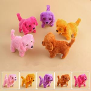 best selling Electronic Plush Dog Toys Fashion Walking Barking Music Toy Funny Electric Power Short Floss Dog Stuffed Animals Toys Novelty Items GGA1620