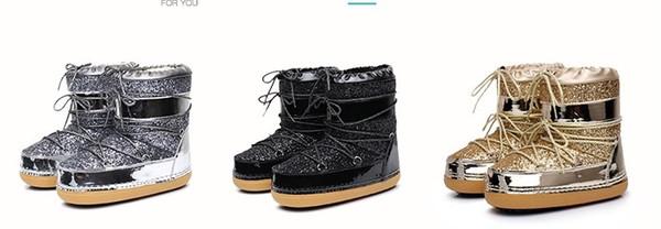 2020 Yeni tasarımcı botlar Avustralya kadınlar kız klasik kar botları kış siyah kestane moda boyutu için ayak bileği kısa yay kürk çizme bowtie -41