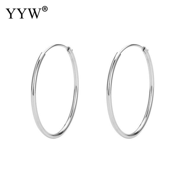 Personalidade brincos círculo Latão Homens Mulheres Brincos 2019 moda jóias por atacado ouro Anéis de orelha de prata design simples