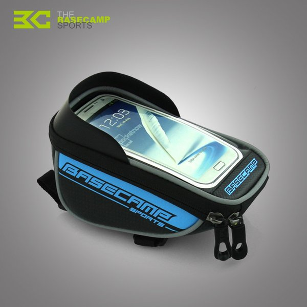BaseCamp Bike Phone Holder Bicycle Bag For iPhone 5 5S 6 6S Plus Samsung LG GPS Mobile Waterproof Bags