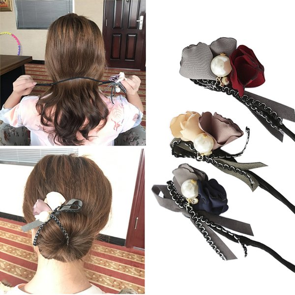 5pcs Flower Hair Accessories DIY Hairstyle Headband Tools Girls Hairpins Hair Clip Clamp Barrettes Hair Accessories 3 color