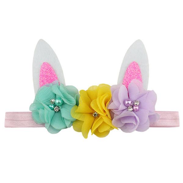 Baby Mädchen Stirnbänder Bunny Ohr Stirnband 2019 Kinder Haarschmuck Kinder Nette Haarbänder Für Mädchen Headwear Kopfschmuck OPP Taschen Q21
