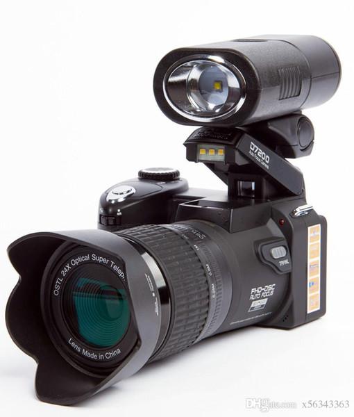 New POLO D7200 digital camera 33MP FULL HD1080P 24X optical zoom Auto focus Professional Camcorder MOQ:1PCS
