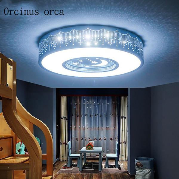 Karikatür yaratıcı ay ve tavan lambası erkek kız yatak odası çocuk odası ışık modern minimalist sanat LED tavan lambası ücretsiz kargo