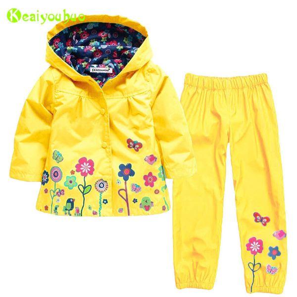 Toddler Girls Clothing Set 2019 Autumn Winter Kids Girls Clothes Sets Raincoat Jackets+pants Girls Sport Suit Children Clothing Y190518
