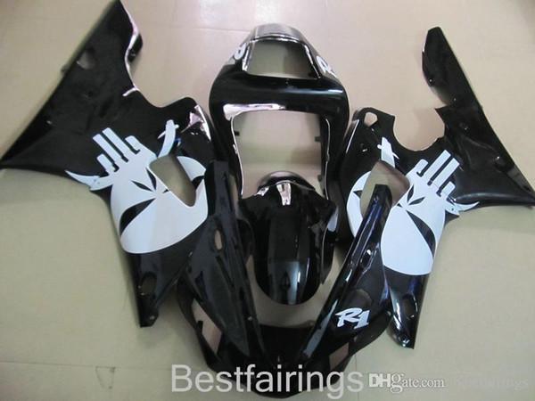 ZXMOTOR Free custom fairing kit for YAMAHA R1 2000 2001 black white fairings YZF R1 00 01 GD26