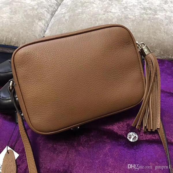 High quality Genuine calfskin leather mini soho bag G308364 shoulder cross body women's handbag tassel square bag free shopping