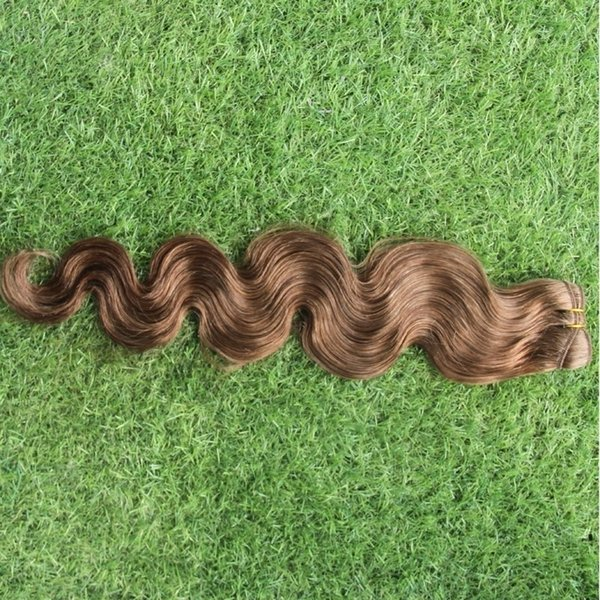Brazilian #5 Dark Medium Brown Color Body Wave Hair Extensions 100% Human Hair Weave 10-30 Inchs Non Remy Hair Extensions