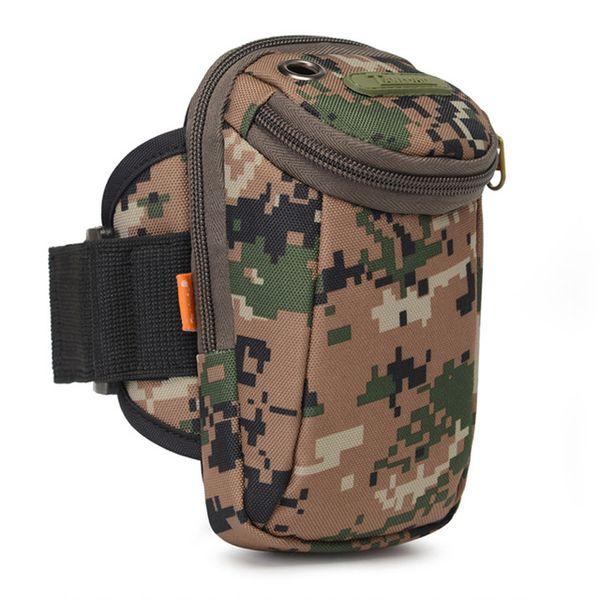8 Colour Mobile arm bag camouflage outdoor running men and women wrist bag multi-functional handbag fitness sports arm bag