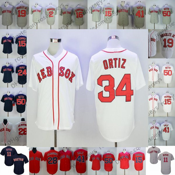 new concept 2bfe3 1ec95 2019 2019 Red Sox Jerseys Boston #34 Ortiz 24 Manny Ramirez David 8 Carl  Yastrzemski 9 Ted Williams Vintage Retired Men Youth Kid Women From ...