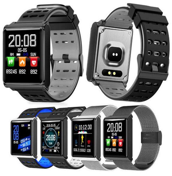 N98 Smart Watch Men Women smart watches Fitness Track Band Heart Rate Blood Pressure Monitor Waterproof Bracelet Alarm Clock PK fitbit DZ09