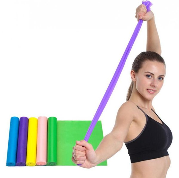top popular Yoga Pilates Stretch Resistance Bands High Elastic Fitness Crossfit Exercise Equipment TPE Pulling Belts Resistance Bands CCA11486 120pcs 2019