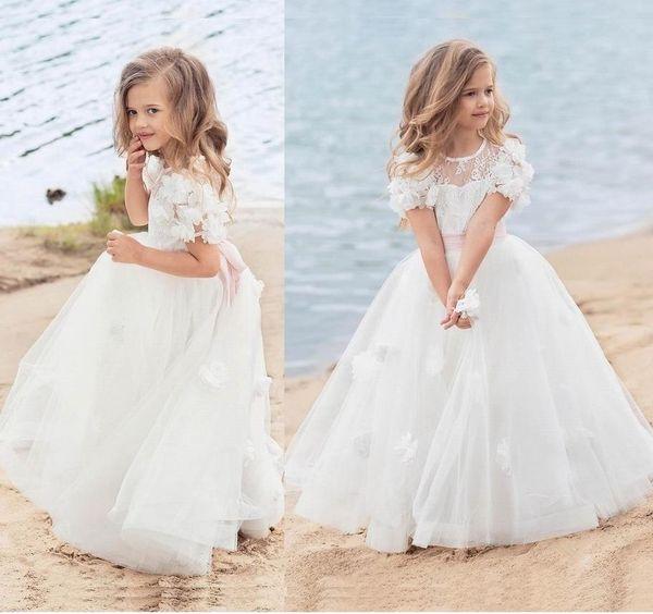 Flower Girl Dress Kid Party Pageant Princess Formal Bridesmaid Wedding