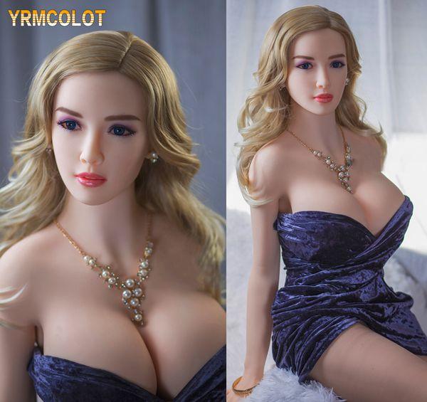YRMCOLOT Boneca Sexual Lifelike Silicone com Grande Amor Peito Boneca Realista Sexy Brinquedos para Homens com Vagina Real Buceta Anal