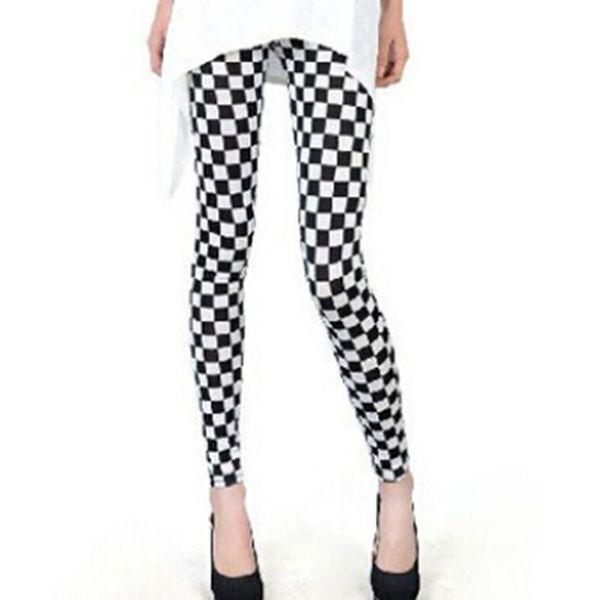 Nova Moda Legging Digital Magro Sexy Black White Stripes Leggins Heigh Qualidade Venda Quente Mulheres Leggings Casual Floral Impresso