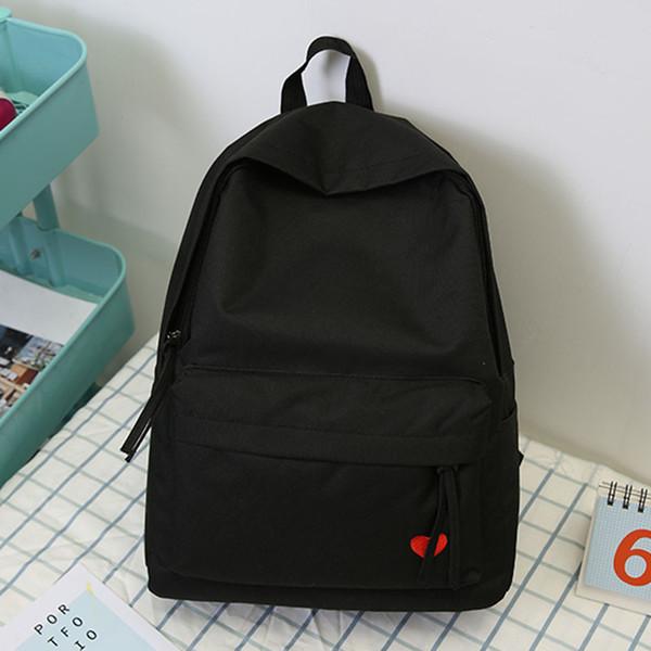 2019 новый корейский школьник школьный женский черный желтый рюкзак холст для девочек Bolsas Mochilas Femininas Back Bag