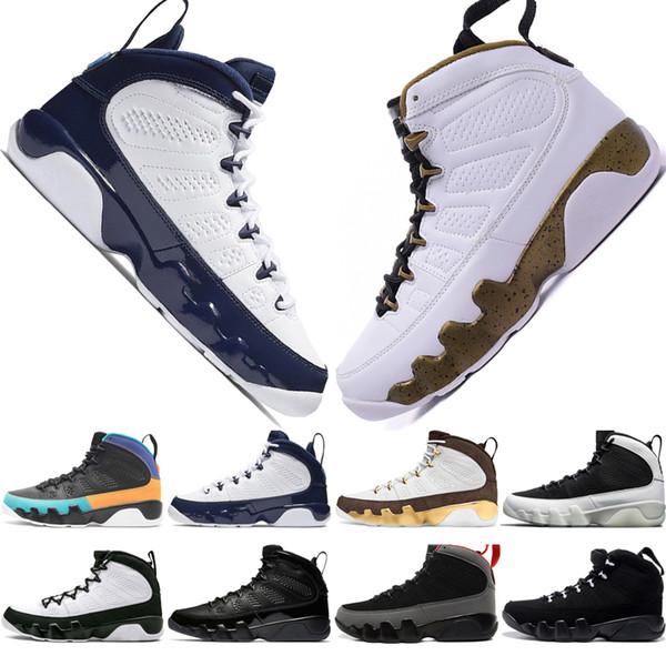 2019 9 9s Rêvez-le Faites-le UNC Mop Melo Chaussures de basket-ball pour hommes LA OG Space Jam hommes élevés tout noir L'esprit sportif baskets designer US 7-13