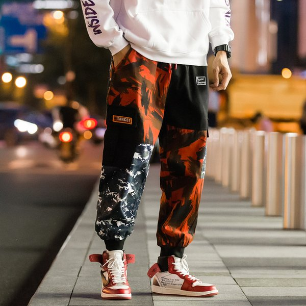 exquisite style website for discount first rate 2019 2019 Men'S Harajuku Cargo Pants Hip Hop Camouflage Harem ...