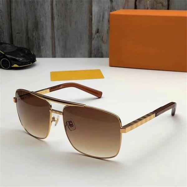 top popular New fashion classic sunglasses attitude sunglasses gold metal frame retro style outdoor UV400 design classic 0260 2019