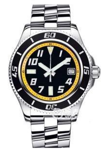 Бесплатная доставка горячая продажа мужская Superocean 42 черный и желтый циферблат сталь автоматические мужские часы A1736402-BA32SS погружение мужские часы