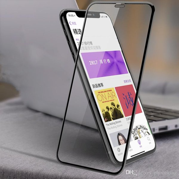 Anti-Scratch 9H Hardness 4D Curved Edge Full Cover Blue Radiation Protection Tempered Glass for iPhone X Glass Screen Protector Film
