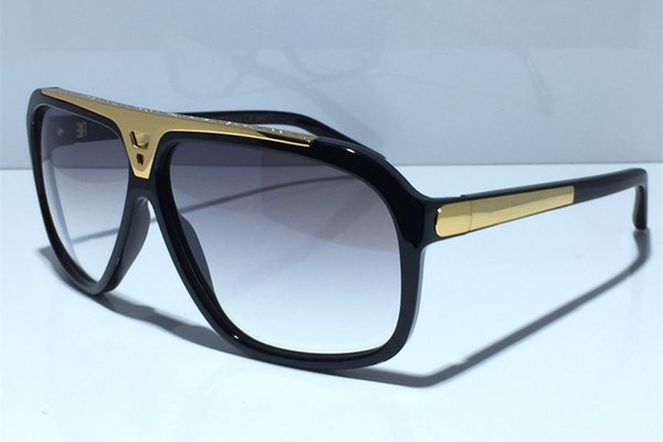 Fashion Luxury Mens Evidence Sonnenbrille Verbesserte Version Z0350W MILLIONAIRE Series Designer-Sonnenbrille Shiny Gold Frame Kommen mit Paket