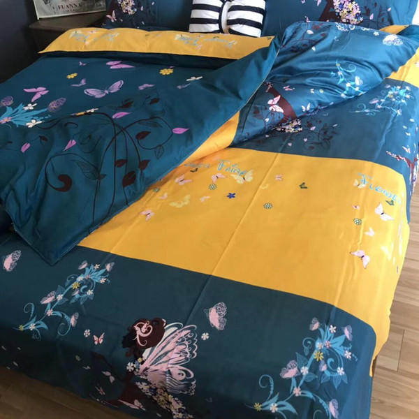 NEW satin bedding set comforter bedding set duvet cover bed sheet pillow Quilt cover Single Double Queen Size Quilted 9