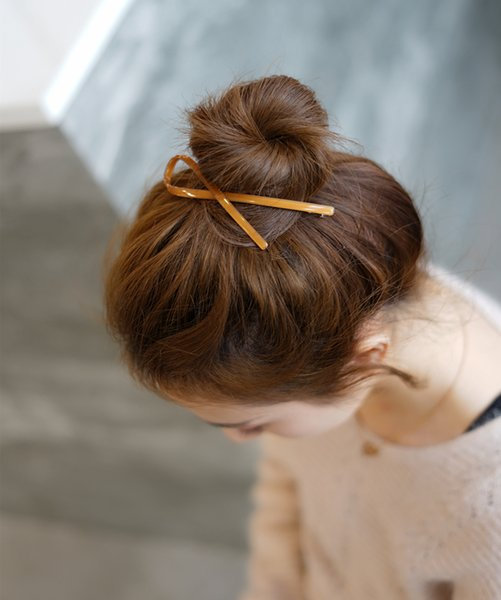 Korean Hairpin Adult All is Acted the role of Fair Maiden of Elegant Hair to Pure and Fresh Hairpin Top Clip Spring Ribbon
