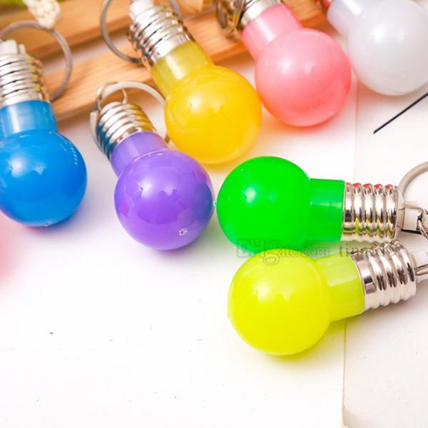 Mini ampoule porte-clés, porte-clés LED porte-clés sac pendentif enfant jouet cadeau cadeaux promotionnelsT2C5033
