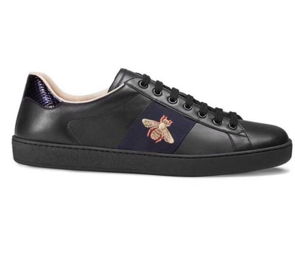 Nouvelle Arrivée De Mode Hommes Femmes Casual Chaussures De Luxe Designer Baskets Chaussures Top Qualité En Cuir Véritable Abeille En Cuir Brodé 11