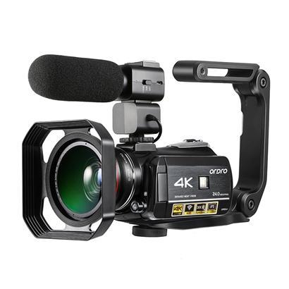 Ordro UHD 4 k WIFI ile 24MP dijital video kamera 3.0 '' Dokunmatik ekran wifi gece görüş dijital video kamera Sıcak ayakkabı