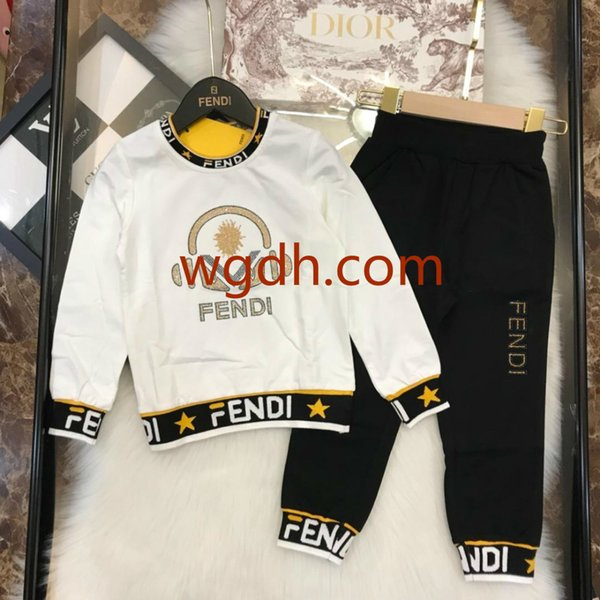2019 bambini S abbigliamento ragazzo manica lunga vestito nuovo bambino bambini S vestiti a due pezzi set 2--9 anni primavera e autunno tendenza F22