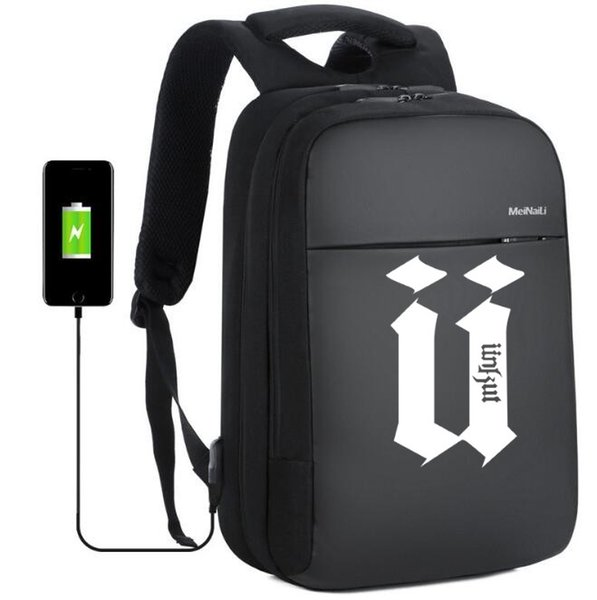 unkut anti-theft backpack middle school student bag usb charging business computer bag waterproof travel backpack - from $34.30