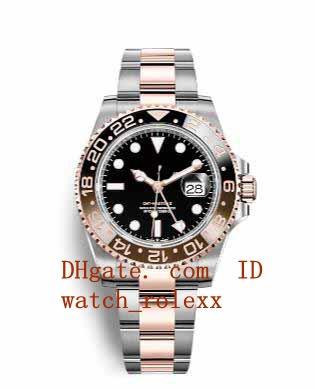 Hombres Ceramic dial 40mm 116710 Sapphire Index Dial Asia 2813 126710 Movimiento mecánico automático Movimiento Hombres 126711 126715 Relojes