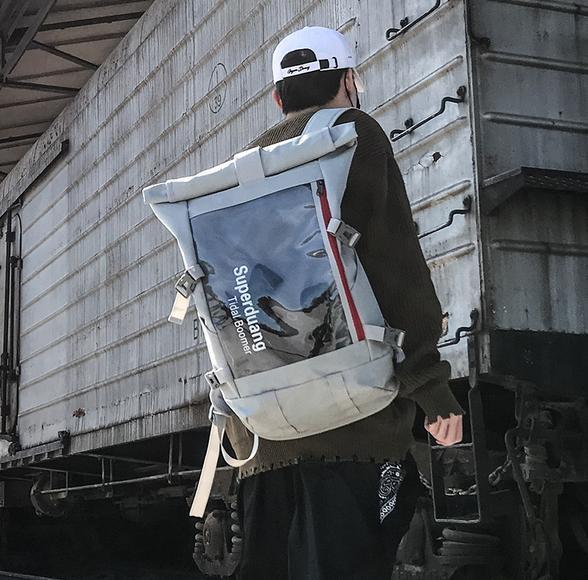 La mochila deportiva de moda callejera para hombre de la marca más caliente Mochila de viaje al aire libre de alta calidad Bolsa de estudiante Bolsa de computadora Elite Envío gratis