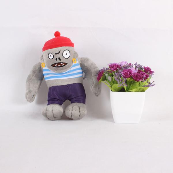 30cm 12'' Plants vs Zombies Plush Toy PVZ Pirate Giant Zombie Plush Doll