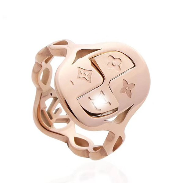 France Brand V Titanium Steel Silver Rose Gold love ring gold for lovers couple V Ring Top quality