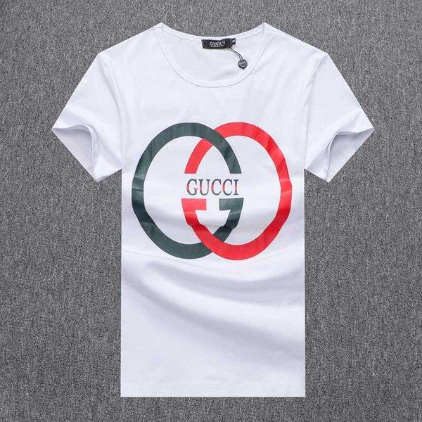 T Gömlek Yaz Modası # 5210 Erkekler O-Boyun Tasarım Mektup Baskı Pamuk Beyaz Siyah erkek Kısa Kollu Üstleri Tee Yüksek Kalite O-Boyun Tshirt