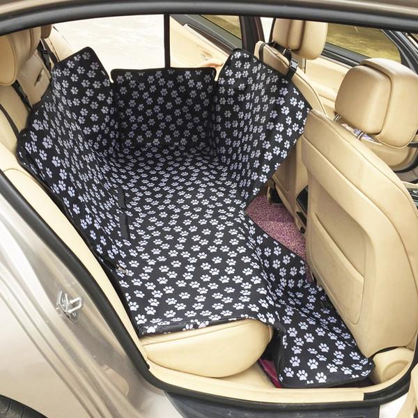 Black cat claws pet pad rear row double seat pet car mat waterproof pad car car dog pad waterproof rear row can sit people