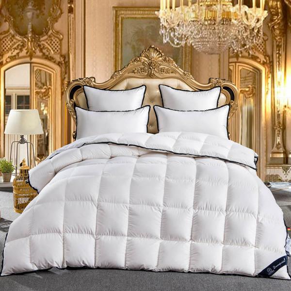 Gans Tröster King Queen Full Twin Größe 100% Gänsedaunen Weiße Tröster Bettwäsche-Set Tagesdecke Bettdecke Decke Bettdecke Edredon colcha