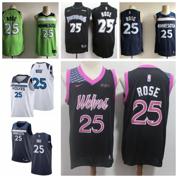 online store 4d49e b2218 2018 Mens Minnesota Timberwolves 25 Derrick Rose Basketball Jerseys  Authentic Stitched Mesh Dense AU Timberwolves Derrick Rose Basketball  Jerseys From ...