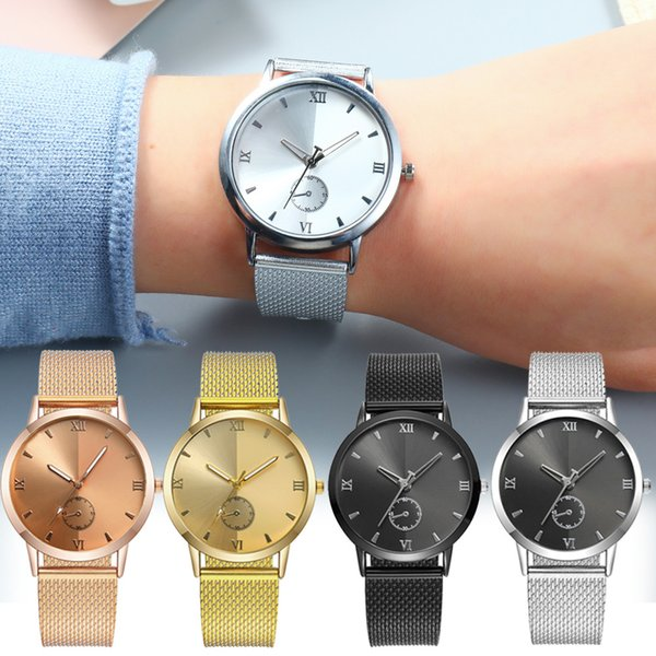 New Women watches top  Steel Quartz Ladies Rose gold Bracelet Watch Casual Clock Lovers Girl Wristwatch gift