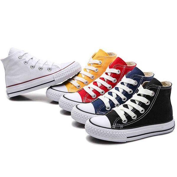 chaussures de sport 4f6c0 4fa53 Acheter Enfants Chaussures Pour Fille Bébé Baskets Nouveau Printemps 2019  Mode High Top Toile Toddler Garçon Chaussure Enfants Classique Toile ...