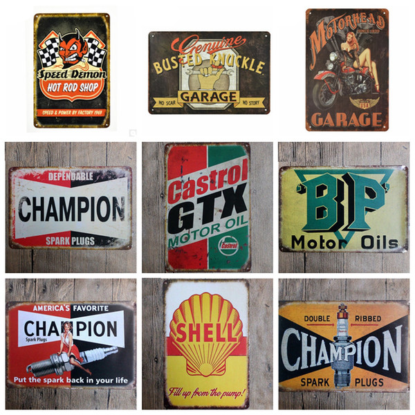 Motor Oil Plaque Vintage Metal Tin Signs Decorative Iron Plates Wall Stickers Art Poster Home Bar Pub Garage Gas Station Decoration YW3398
