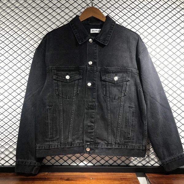 19 fall and winter drilling hot high-quality 1: 1 jeans denim jacket, Ms.