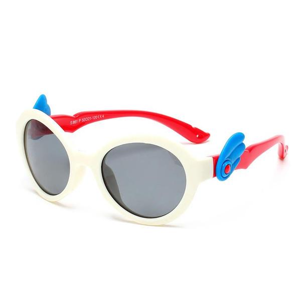 Hot Kids Sunglasses Polarized Girls Brand Cat Eye Children Glasses Boys UV400 Lens Baby Sun glasses Cute Eyewear Shades Goggles