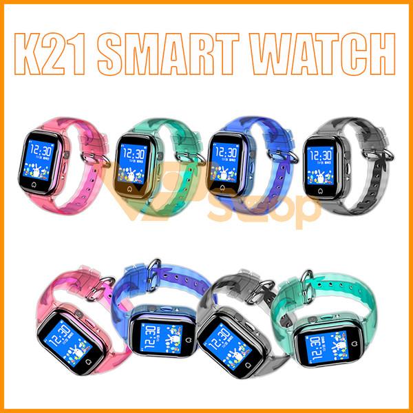 K21 Montre Smart Watch HD Écran Tactile Étanche Téléphone GPS Positionnement Enfants Smartwatches pour IOS Android Montres Enfants