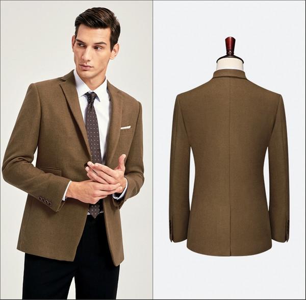 Mais recentes modelos de calça de casaco noivo smoking terno dos homens conjunto casual magro homens smoking 2 peças de casamento smoking (jaqueta + calça)