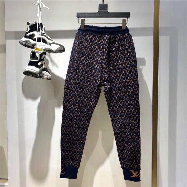 Monogrammes Brown pantalon brossé piste Casual taille élastique Pantalon sport design luxueux Jogger extérieur Mode Sweatpants